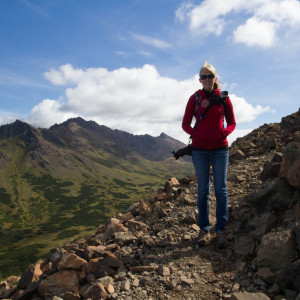 Kirsten along the hike to Flattop Mountain