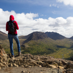 Kirsten atop Flattop Mountain